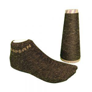 Black linen melange yarn