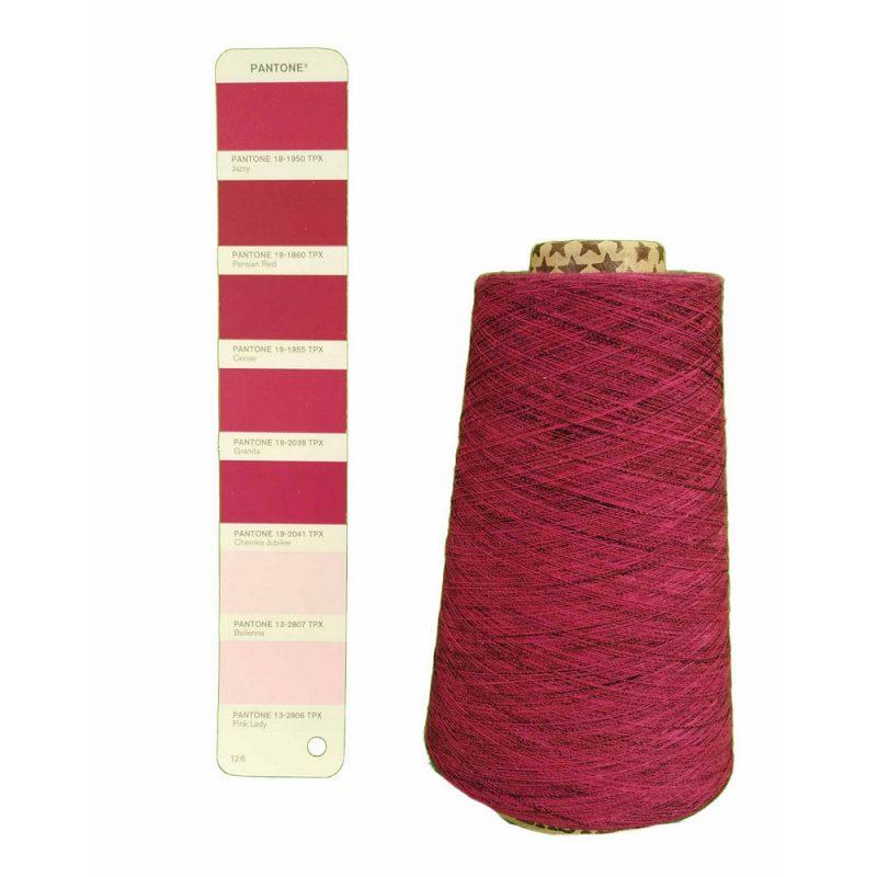 pink melange yarn